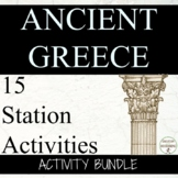 Ancient Greece Activity Bundle for Ancient Greece Unit GREAT FOR STATIONS