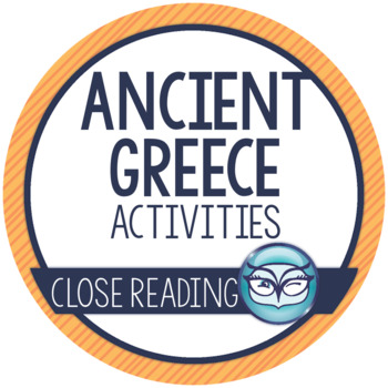 Ancient Greece Activity Pack - includes Mentor Texts for Close Reading