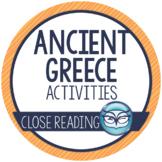 Ancient Greece Reading Activities, Greek Gods