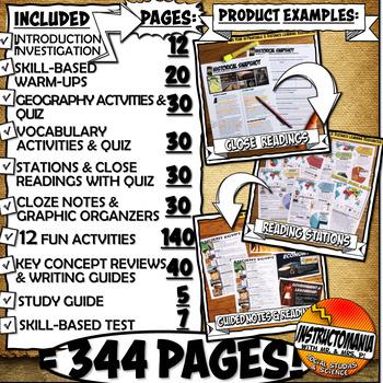 Ancient Greece Unit Plan Activity & Note Bundle Common Core Grades 5-8