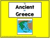 Ancient Greece Adapted Story and worksheets