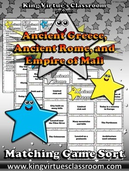 Ancient Greece, Ancient Rome, and Empire of Mali Matching Game Sort - Review