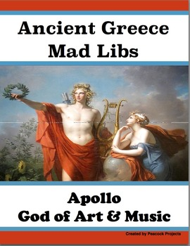 Ancient Greece & Apollo - Passage, Mad Libs, and Vocabulary