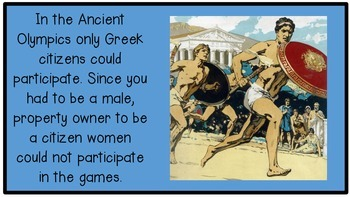 Ancient Greece Architecture and Olympics PowerPoint