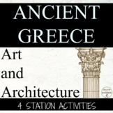 Ancient Greece Art Architecture Station Activities  UPDATED