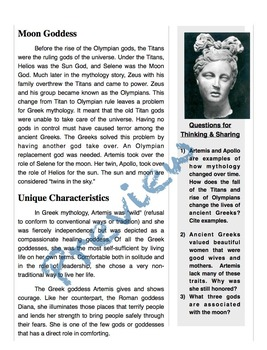 Ancient Greece & Artemis - Passage, Mad Libs, and Vocabulary