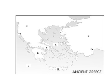 Ancient Greece Map Assessment by Johnny S Teaching | TpT
