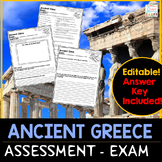 Ancient Greece Assessment Exam