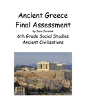 Ancient Greece Assessment and Answer Key