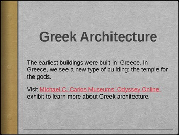 Ancient Greece- Athenian Architecture PowerPoint