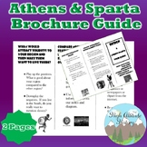 Athens and Sparta Brochure Guide Writing Assignment (Ancient Greece)