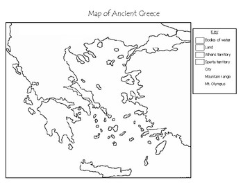 Ancient Greece   Blank Maps by Mr C shop | Teachers Pay Teachers