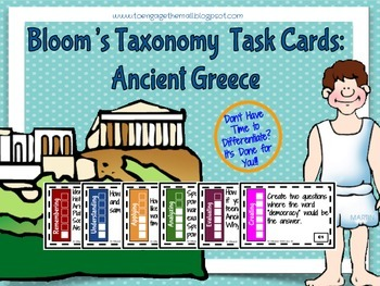 Ancient Greece Bloom's Taxonomy Task Cards