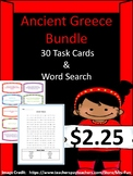 Ancient Greece Bundle (1 Word Search & 30 Task Cards)