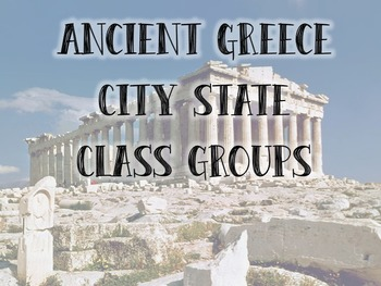 Ancient Greece City State Groups Competition