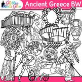 Ancient Greece Clip Art   Civilization & Culture on the Mediterranean   B&W