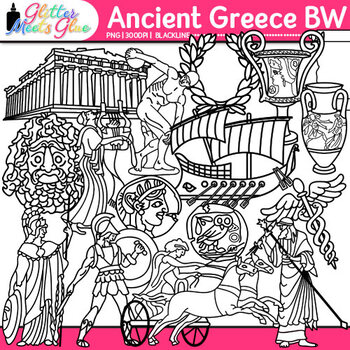 Ancient Greece Clip Art {Civilization & Culture on the Med