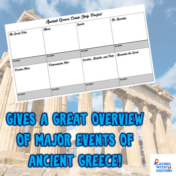 Ancient Greece Comic Strip Project