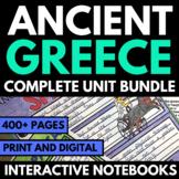 Ancient Greece Unit | Interactive Notebook | Questions | A
