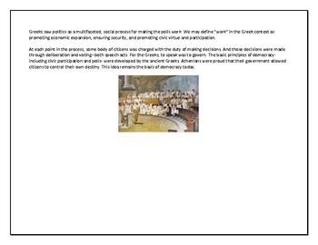 Ancient Greece Contributions Graphic Organizer