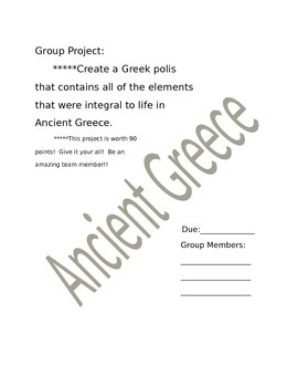 Ancient Greece Culminating Project