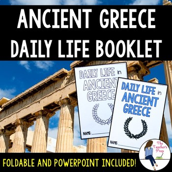 Ancient Greece Daily Life Booklet Foldable