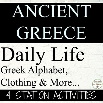 Ancient Greece Life in Ancient Greece Center Activities