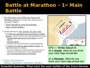 Ancient Greece Day 10 - Greco Persian War