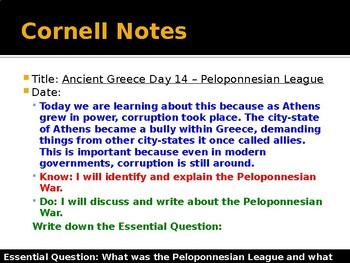 Ancient Greece Day 14 - Peloponnesian League