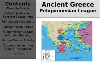 Ancient Greece Day 14 - Peloponnesian League