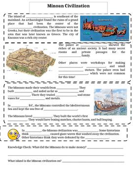 Ancient Greece Day 2 Skeletal Notes: Minoan Civilization