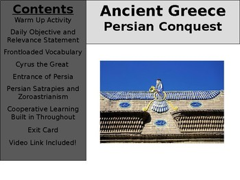 Ancient Greece Day 9 - Persian Dominance