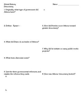 Ancient Greece:  Democracy