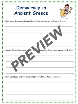 Ancient Greece: Democracy - Lesson & Activities