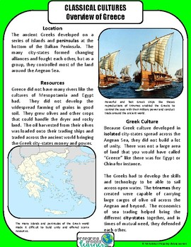 Ancient Greece Differentiated Reading Passages
