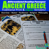 Ancient Greece Differentiated Reading Passages (Print & Di