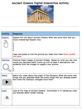 Ancient Greece Digital Breakout and Hyperdoc Two Pack
