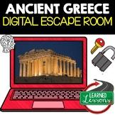 Ancient Greece Digital Escape Room, Breakout Room Test Prep