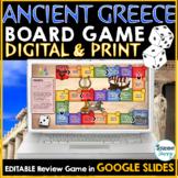 Ancient Greece Digital Game Google Slides | Review Digital Board Game
