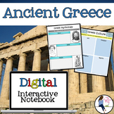 Ancient Greece Digital Interactive Notebook for Google Drive