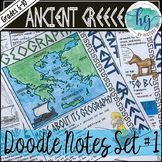 Ancient Greece Doodle Notes Set 1 for Geography and Early Greeks