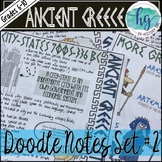 Ancient Greece Doodle Notes Set 2 for Greek City-States