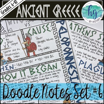 Ancient Greece Doodle Notes Set 6 for the Peloponnesian War