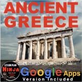 Ancient Greece Unit: PPTs, Worksheets, Plans, Kahoot, Test + Distance Learning