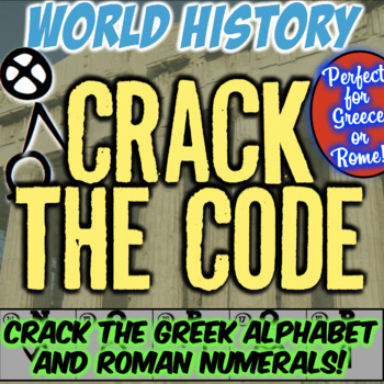 Ancient Greece Escape Room: Crack Greek Alphabet & Roman Numerals! Breakout!