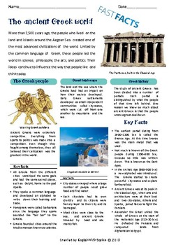 Ancient Greece - Fast Facts MINILESSON UPDATED
