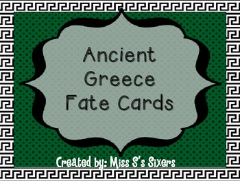 Ancient Greece Fate Cards