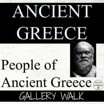 Ancient Greece Gallery Walk Activity for the People of Ancient Greece