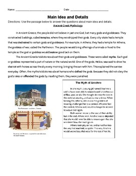 Ancient Greece: Finding Main Idea and Supporting Details