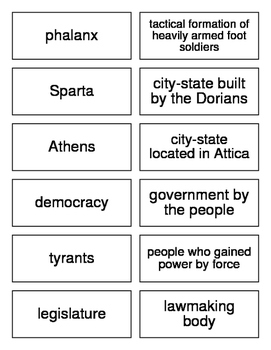 Ancient Greece Flash Cards for World History